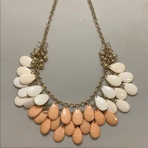 Ivory and pink gemstone necklace